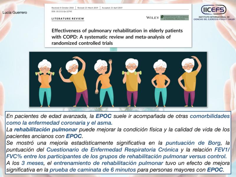 Rehabilitación pulmonar en adultos mayores con EPOC