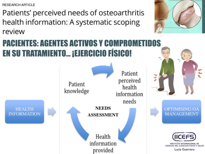 Necesidad de Información en Salud: Hacia la Participación y Compromiso del Paciente en la Osteoartritis