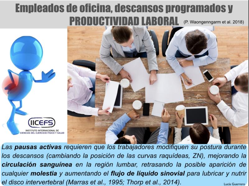 Empleados de Oficina, Descansos Programados y Productividad Laboral