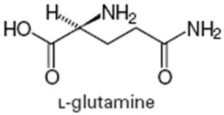 Fórmula Estructural de la L-Glutamina